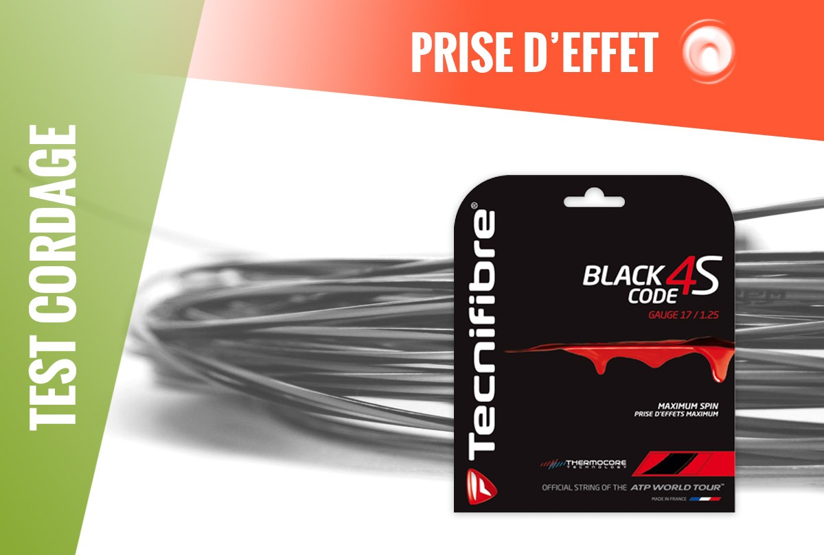 Test Cordage Tecnifibre Black Code 4S